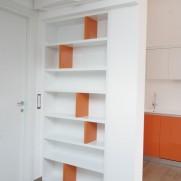 Libreria divisoria  laccato lucido  —  Colico